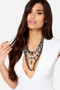 Enchanted by Envy Black Rhinestone Necklace at Lulus.com!