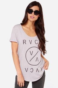 RVCA Highest End Pale Mauve Tee at Lulus.com!