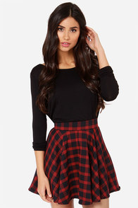 Plaid School Red Plaid Mini Skirt at Lulus.com!
