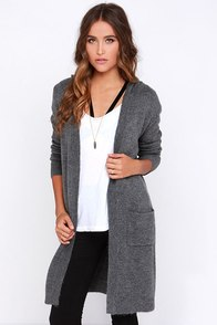 Coming Up Cozy Grey Oversized Hooded Sweater at Lulus.com!