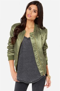 Bomb Diddly Olive Green Bomber Jacket at Lulus.com!
