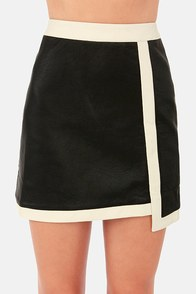 My Leather Half Black Vegan Leather Skirt at Lulus.com!