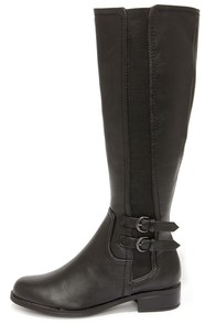 Easy Strider Black Riding Boots at Lulus.com!