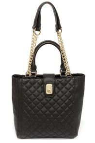 Blind Date Black Quilted Handbag at Lulus.com!
