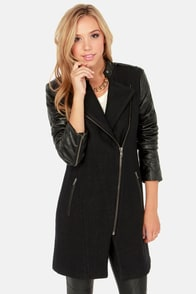 BB Dakota Melinda Black Coat at Lulus.com!