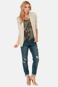 Dittos Charlie Cropped Distressed Boyfriend Jeans