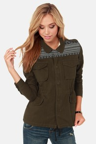 Lira Off Duty Olive Green Army Jacket at Lulus.com!