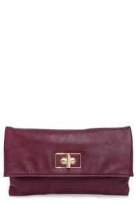 Grand Openings Burgundy Clutch at Lulus.com!