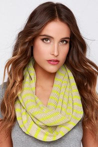 Bijou Baby Beige and Chartreuse Infinity Scarf at Lulus.com!