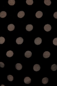 Some Like It Dot Black Velvet Polka Dot Top at Lulus.com!