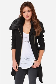 Tall Order Oversized Black Coat at Lulus.com!