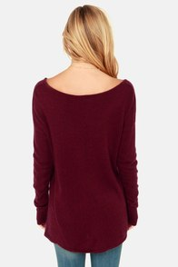 Ready or Knit Burgundy Sweater at Lulus.com!