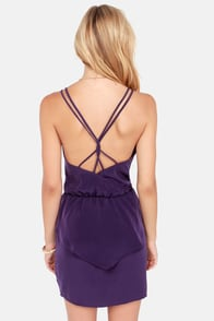Dance Till Dawn Purple Peplum Dress at Lulus.com!
