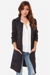 Volcom Wild Yonder Dark Grey Oversized Sweater at Lulus.com!