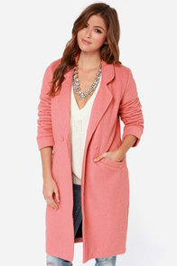 Somedays Lovin' Venkman Blush Pink Oversized Wool Coat at Lulus.com!