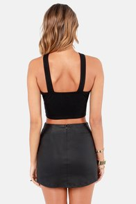 Grand Junction Black Bustier Top at Lulus.com!