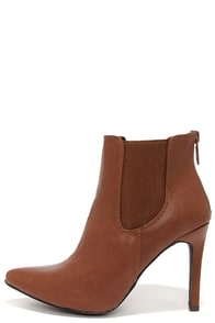 Virtuous Tan Pointed Toe Booties at Lulus.com!