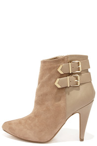 Pointed View Taupe Pointed Toe Booties at Lulus.com!