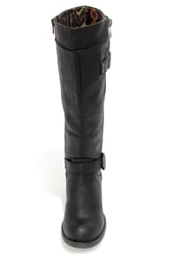 Blowfish Kipsey Black Buckled Riding Boots at Lulus.com!