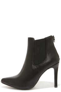 Virtuous Black Pointed Toe Booties at Lulus.com!