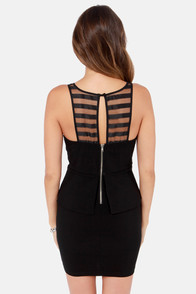 Skip the Line Cutout Black Dress at Lulus.com!