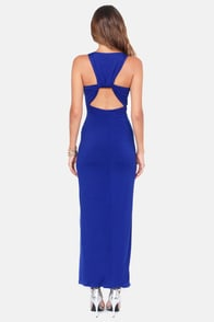 Worth Your While Backless Blue Maxi Dress at Lulus.com!