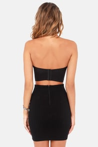 Born Bead-y Strapless Black Bustier Top at Lulus.com!