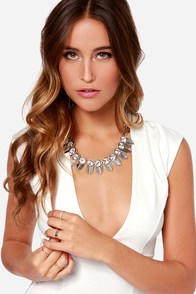Lunar Magic Silver Rhinestone Necklace at Lulus.com!
