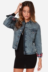 Volcom Ride Along Distressed Denim Jacket at Lulus.com!