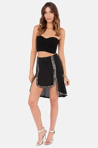 Slim Primpings Beaded Black Skirt at Lulus.com!