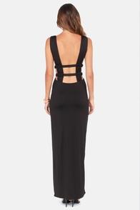 Grecian Pieces Cutout Black Maxi Dress at Lulus.com!