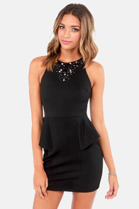 Gem Fatale Beaded Black Dress at Lulus.com!