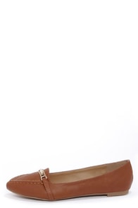 Bamboo Catchy 03 Chestnut Pointed Loafer Flats at Lulus.com!