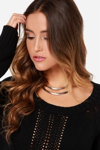 Two of a Kind Silver Layered Necklace at Lulus.com!