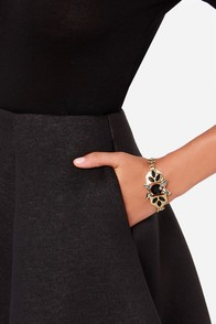 Ice Ice Lady Black Rhinestone Bracelet at Lulus.com!