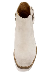 Very Volatile Stepper Ice Suede Ankle Boots at Lulus.com!