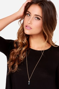 Stone Cold Black Pendant Necklace at Lulus.com!