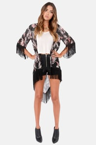Somewhere My Love Floral Print Kimono Top at Lulus.com!