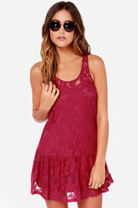 Others Follow Pencey Berry Red Lace Dress at Lulus.com!