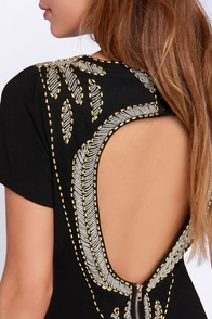 Window Shopping Backless Black Dress at Lulus.com!