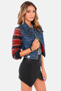Others Follow The Ace Distressed Flannel and Denim Jacket at Lulus.com!