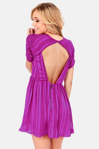 Lucca Couture Private Eye Backless Magenta Dress at Lulus.com!
