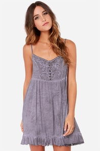 Black Swan Vanilla Lavender Grey Dress at Lulus.com!