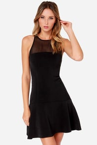 Black Swan Garbo Black Dress at Lulus.com!