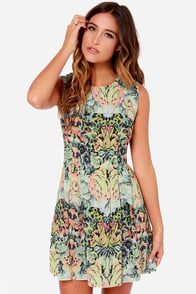 Black Swan Hope Yellow Print Dress at Lulus.com!