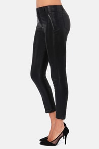 Ride Along Cropped Black Vegan Leather Pants at Lulus.com!