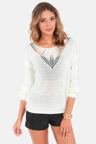 Dream World Cream Sweater at Lulus.com!