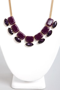 Gems of a Lifetime Purple Necklace at Lulus.com!