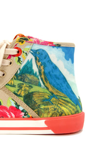 Tigerbear Republik Spin the Bottle Birdbrain High Top Sneakers at Lulus.com!