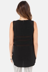 Steer Sheer Cutout Black Top at Lulus.com!